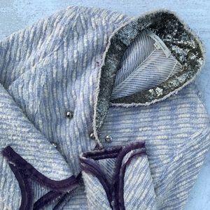 Marc Jacobs Tweed Military Jacket in Lavender